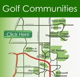 Scottsdale Golf Communities Map